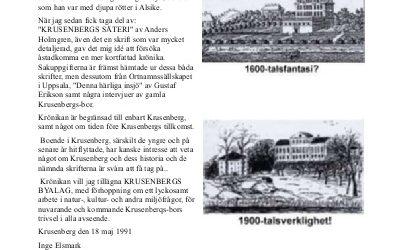 Krusenberg – en krönika med bilder